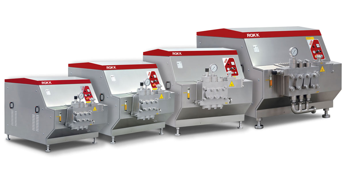 Full range of New ROKK Homogenisers now launched