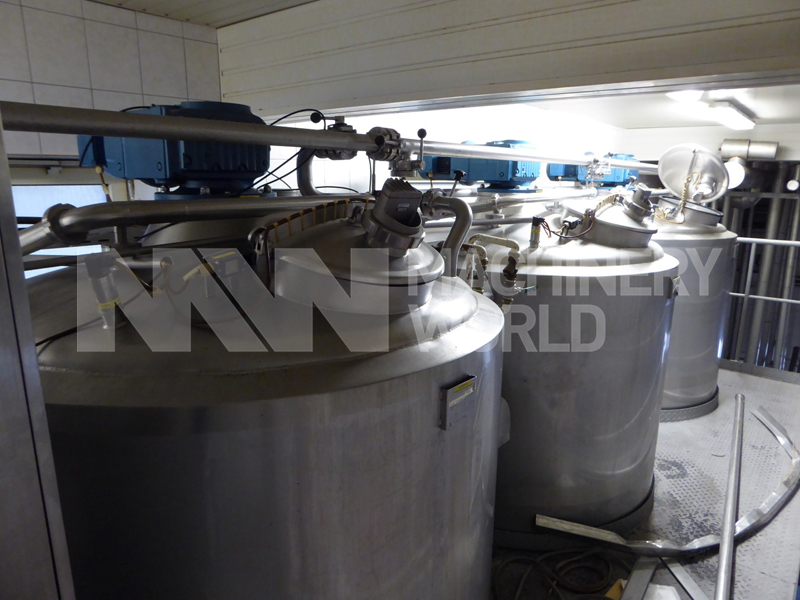 Tetra Pak Jacketed Tank with Top Mixer - 6.000 ltr (3x Available)